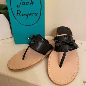Jack Rogers Adeline Sandal Black Leather